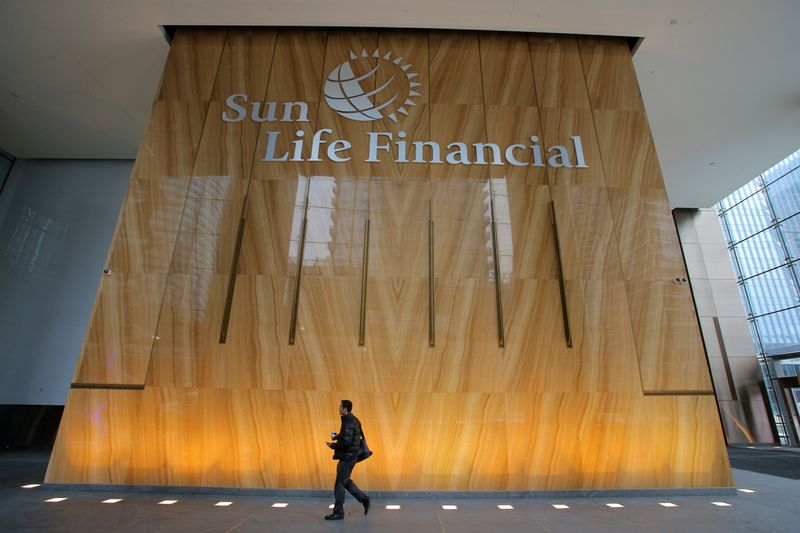 The Sun Life Financial logo is seen at their corporate headquarters in Toronto