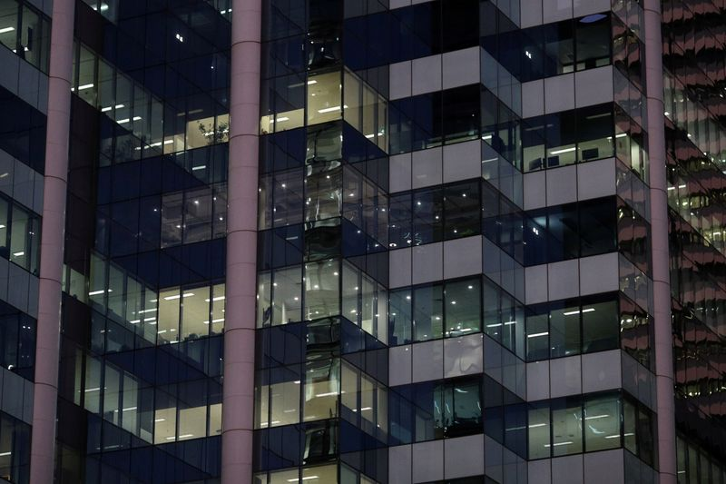 FILE PHOTO: Office building windows are seen in Sydney