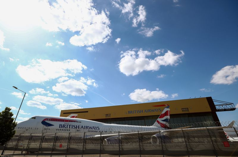A British Airways Boeing 747 is seen at the Heathrow Airport in London