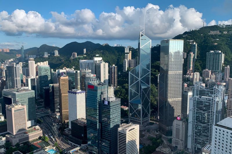 FILE PHOTO: A general view of the financial Central district in Hong Kong