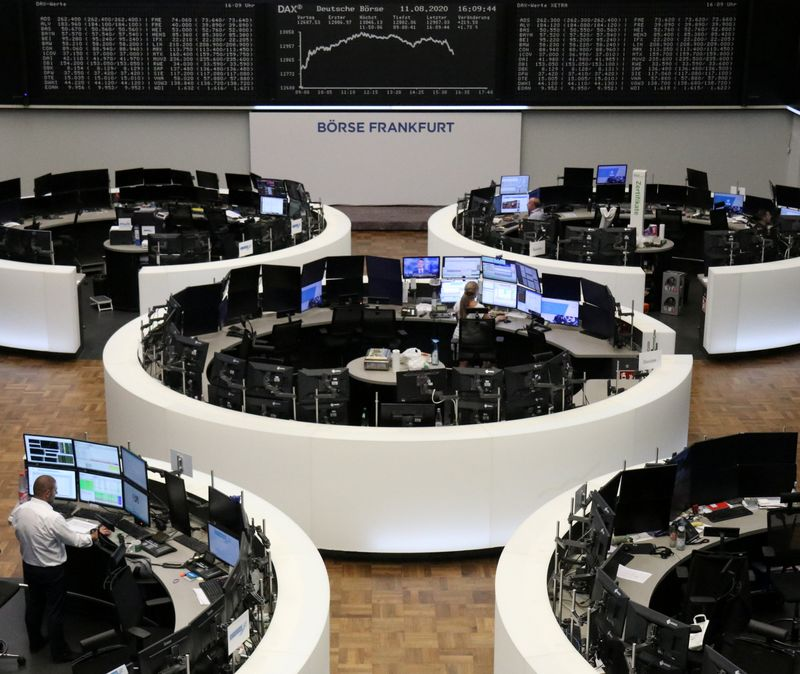 Telecoms deal lifts Europe, FTSE shines despite record GDP slump