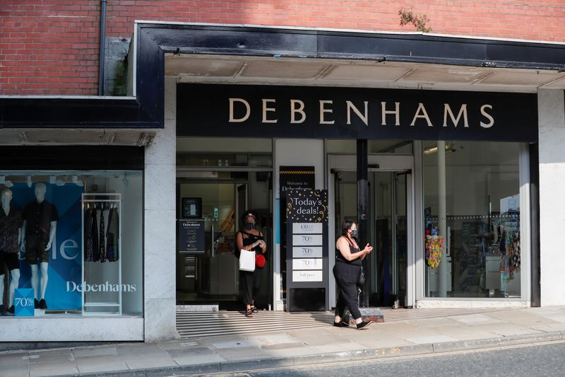 General view of a Debenhams store in Harrogate