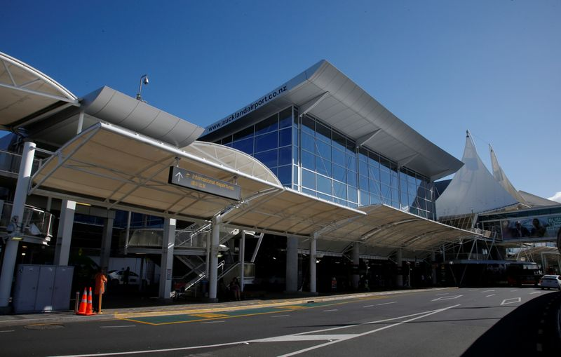 The International Departures terminal is pictured during fuel shortages at Auckland Airport in New Zealand