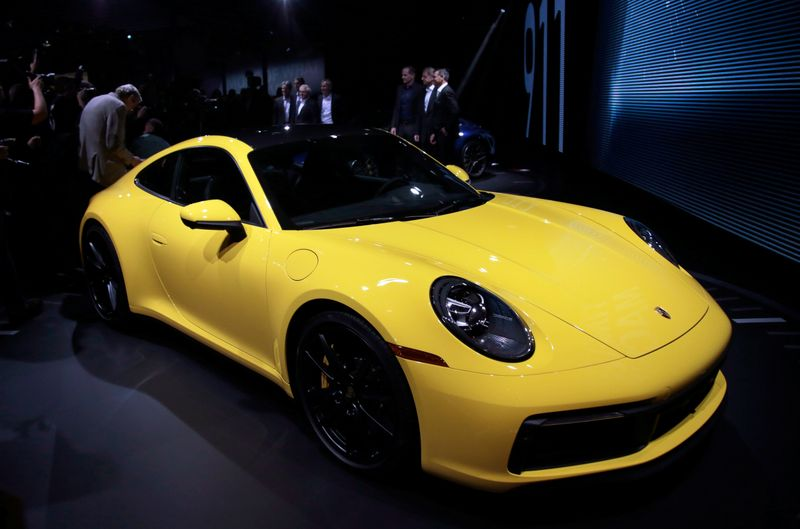 FILE PHOTO: A Porsche 911 on display at the 2018 Los Angeles Auto Show