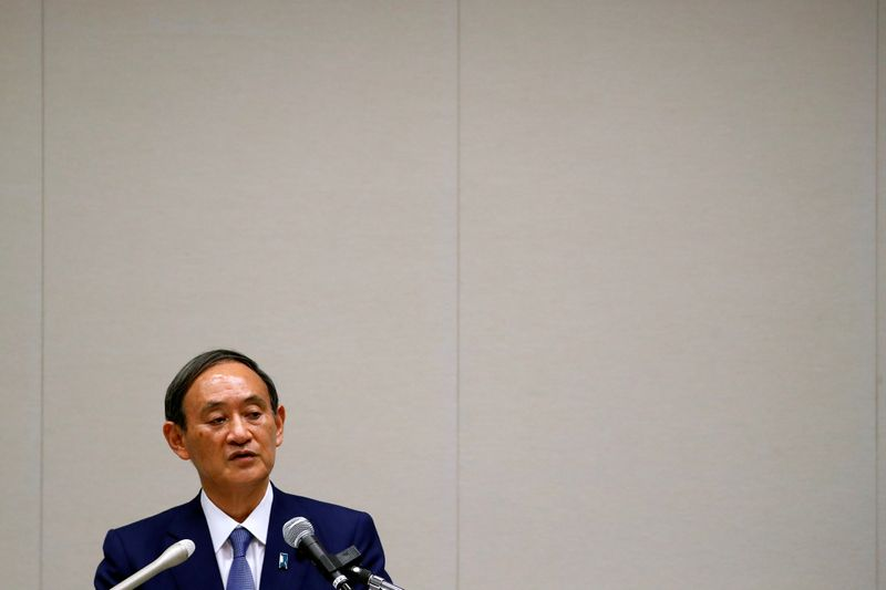 Japan's Yoshihide Suga formally announces run for PM with strong party backing