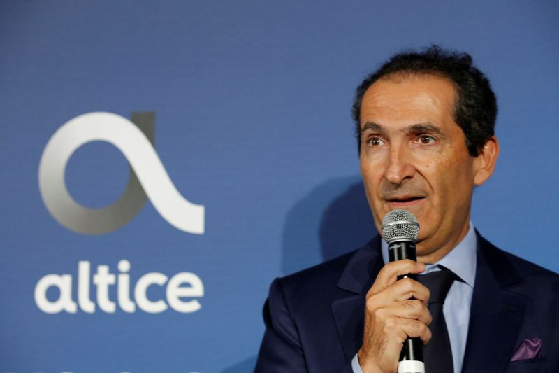 FILE PHOTO: Patrick Drahi, Franco-Israeli businessman and founder of cable and mobile telecoms company Altice Group attends the inauguration of the Altice Campus in Paris