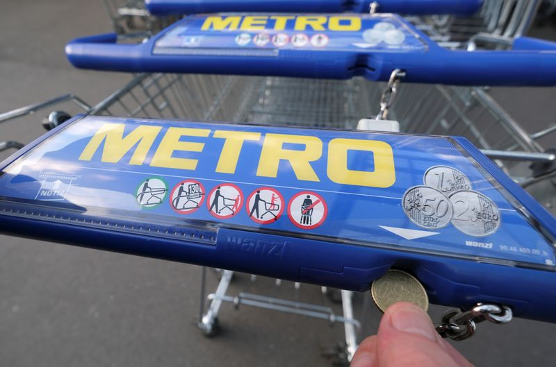 Metro shopping carts in Duesseldorf