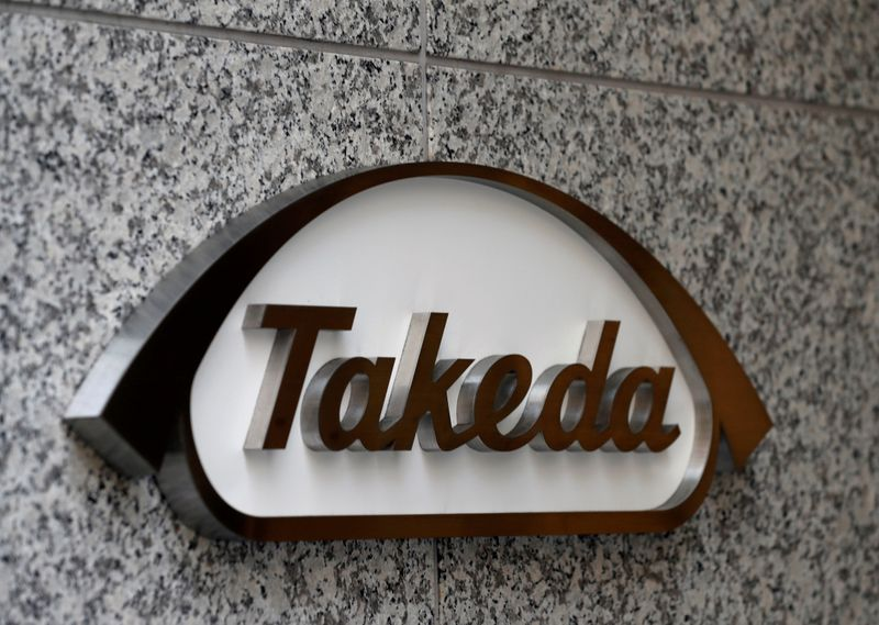 FILE PHOTO: Takeda Pharmaceutical's logo is seen at its headquarters in Tokyo