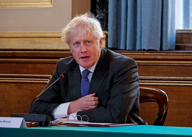 British PM Johnson holds cabinet meeting at Foreign Office in London
