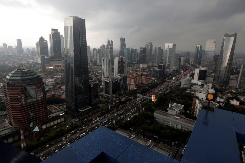 FILE PHOTO: Aerial view of SCDB during cloudy day in Jakarta