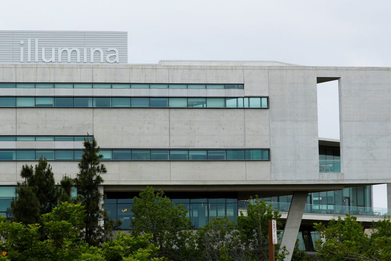FILE PHOTO: A new office building housing genetic research company Illumina is shown in San Diego, California