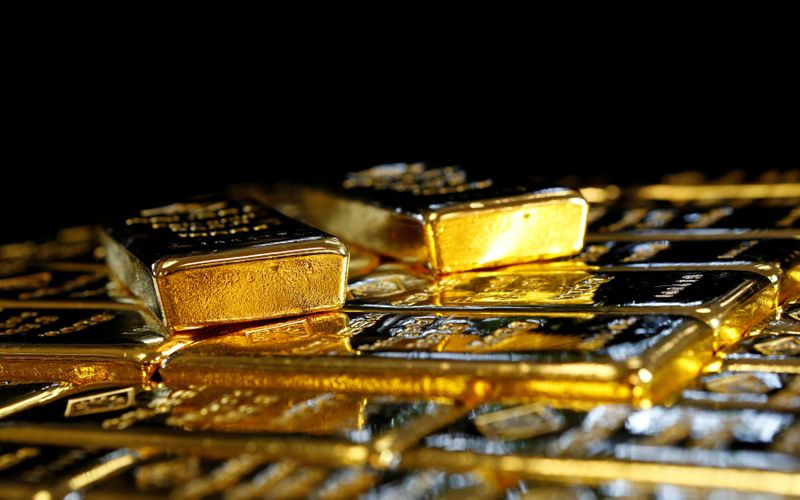 FILE PHOTO: FILE PHOTO: Gold bars at the Austrian Gold and Silver Separating Plant in Vienna