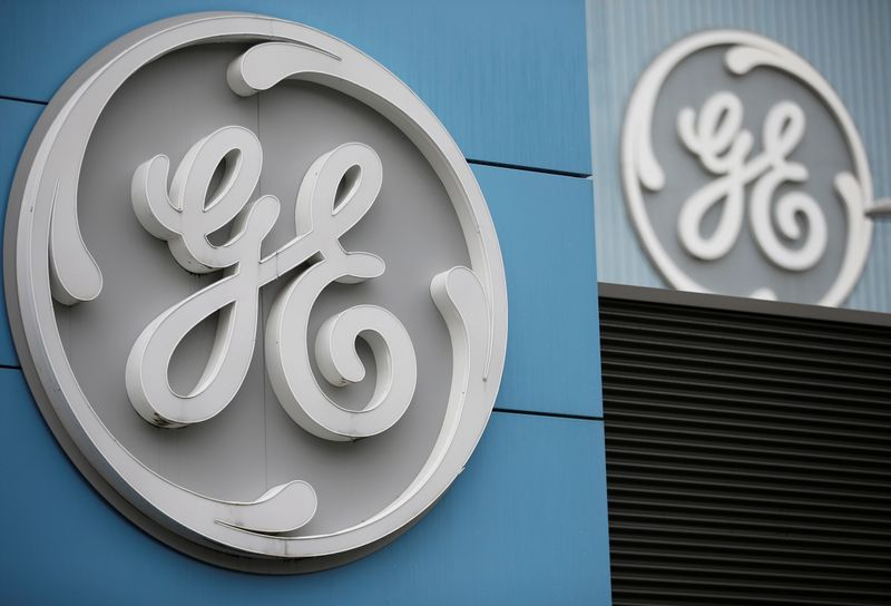 FILE PHOTO: The logo of U.S. conglomerate General Electric is seen on the company building in Belfort