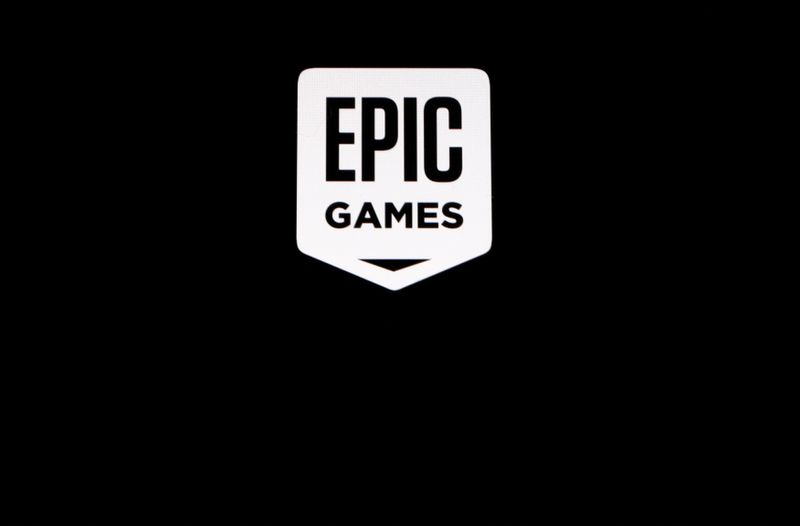 FILE PHOTO: The Epic Games logo, maker of the popular video game