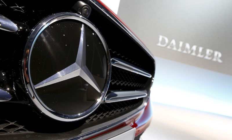 File photo of Mercedes-Benz logo pictured before company's annual news conference in Stuttgart