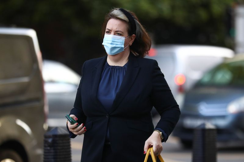 Solicitor Ellen Peart arrives at Westminster Magistrates Court in London