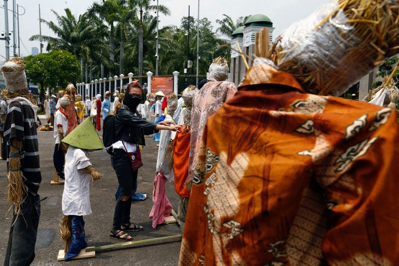 FILE PHOTO: The outbreak of the coronavirus disease (COVID-19), in Jakarta