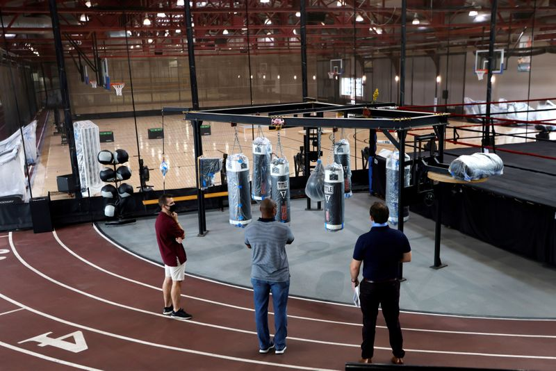 New York's Chelsea Piers Fitness prepares to reopen after Governor Andrew Cuomo allowed fitness industry to resume operations in New York
