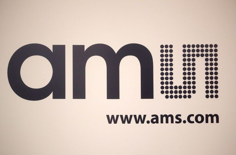 Logo of sensor specialist AMS is seen in Zurich