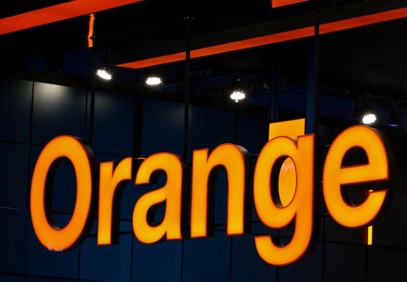Orange logo is seen during the Mobile World Congress in Barcelona