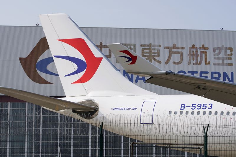 A China Eastern Airlines aircraft is seen parked on the tarmac in Hongqiao International Airport in Shanghai