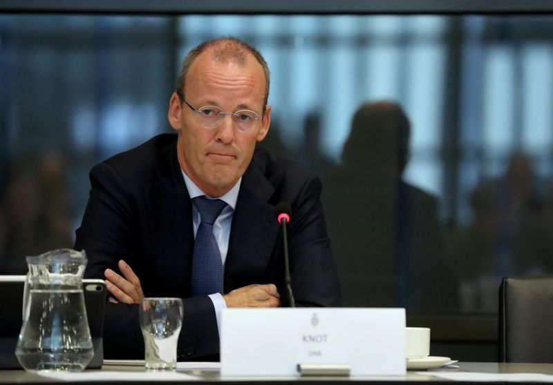 ECB board member Klaas Knot appears at a Dutch parliamentary hearing in The Hague