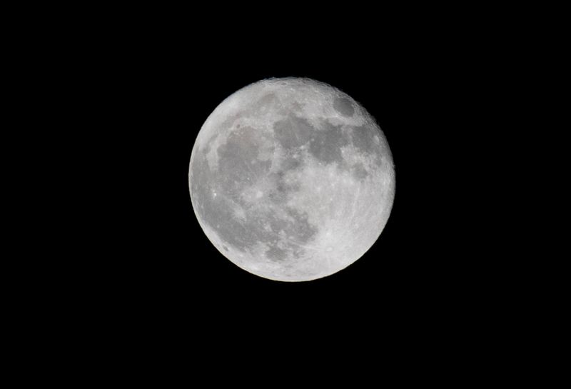 FILE PHOTO: A full moon, also called harvest moon, is pictured in Pasadena