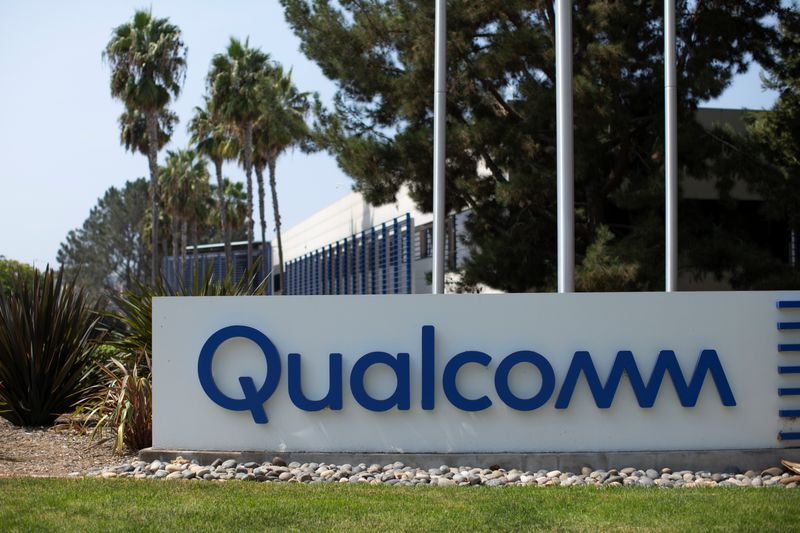 Qualcomm building shown in San Diego