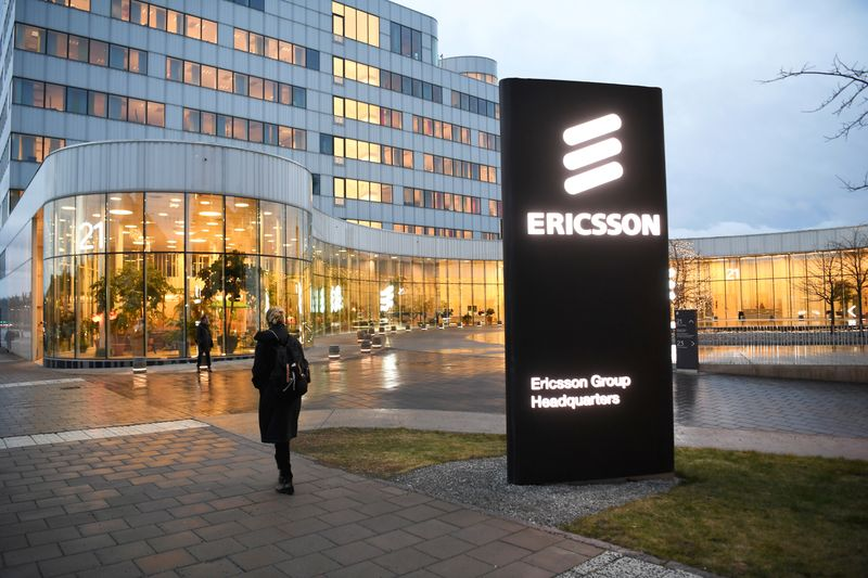 FILE PHOTO:  A general view of an exterior of the Ericsson headquarters in Stockholm