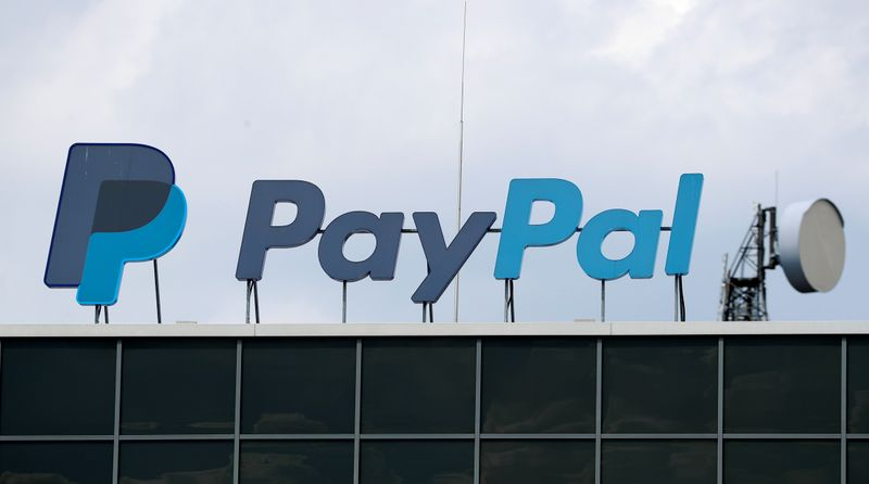 The German headquarters of PayPal is pictured at Europarc Dreilinden business park south of Berlin in Kleinmachnow