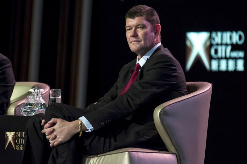 FILE PHOTO: Australian billionaire James Packer, co-chairman of Melco Crown Entertainment, attends a news conference at Melco Crown's Studio City in Macau, China