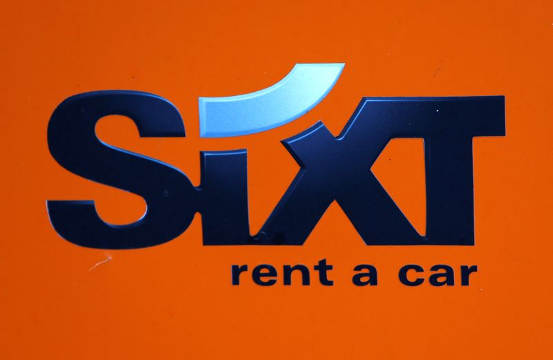 The Sixt car rental logo is seen in Augsburg