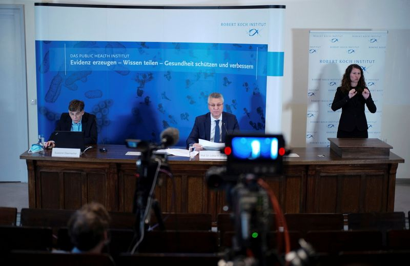 Head of Robert Koch Institute Wieler attends news conference in Berlin