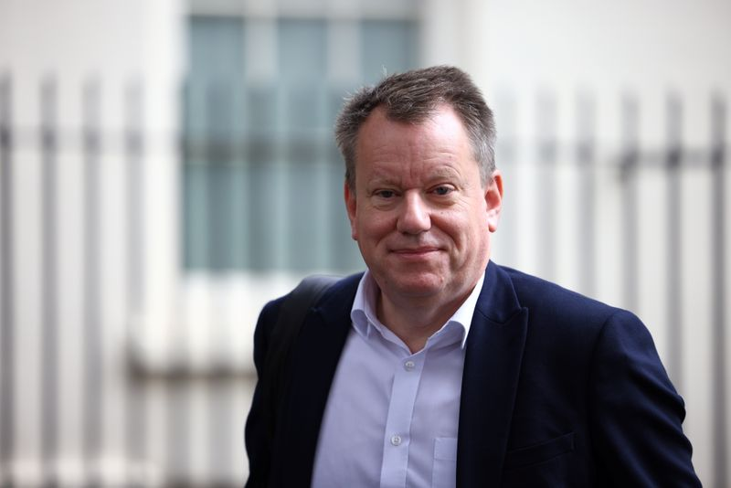 Britain's Chief negotiator David Frost walks outside Downing Street in London