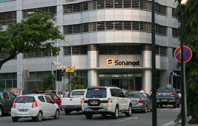 FILE PHOTO: The head office of Angola's state oil company Sonangol in the capital Luanda, Angola