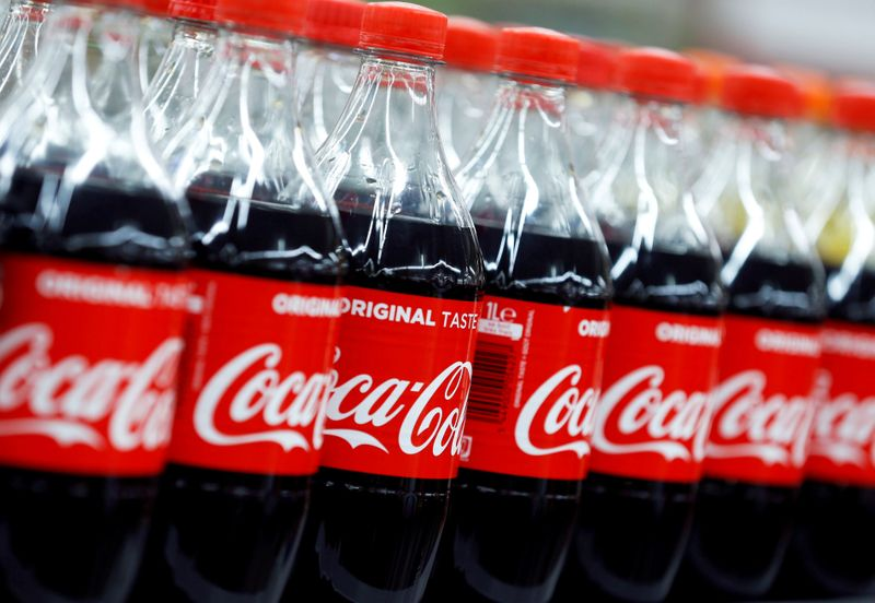 FILE PHOTO: Bottles of Coca-Cola are seen at a Carrefour Hypermarket store in Montreuil, near Paris