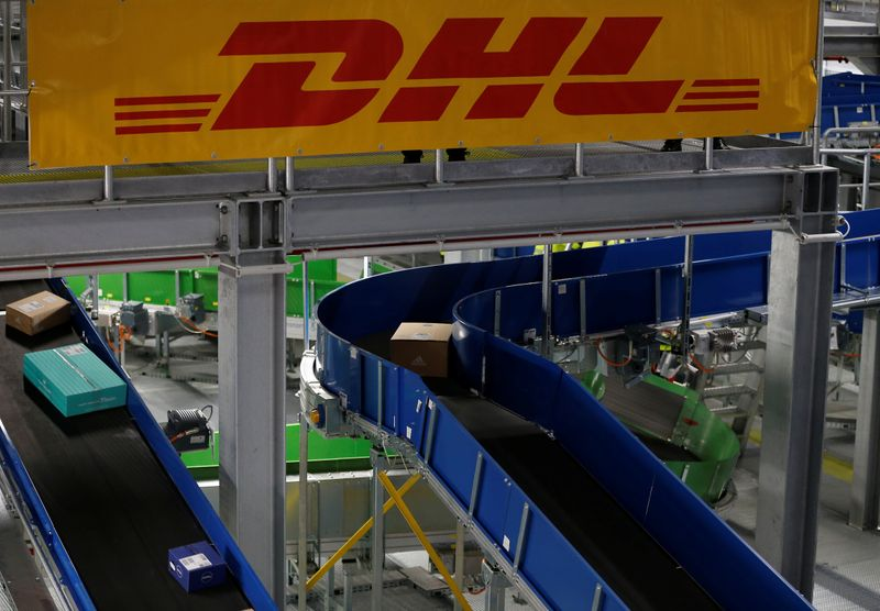 Presentation of a new DHL/Deutsche Post parcel center in Bochum