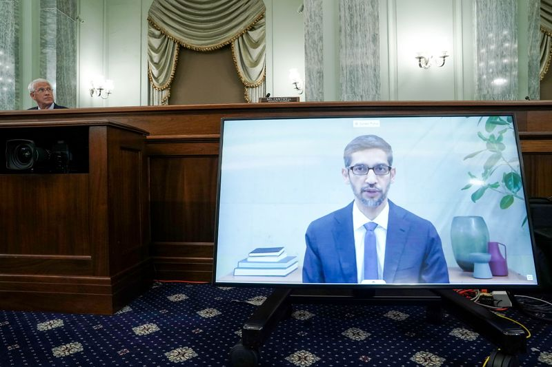 Tech CEOs testify at U.S. Senate hearing about internet regulation