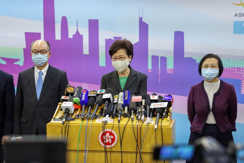 Top Chinese official praises Lam for stabilizing Hong Kong