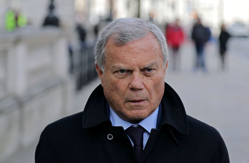 Sir Martin Sorrell walks down Whitehall, as a meeting takes place addressing the government's response to the coronavirus outbreak, at Cabinet Office in London