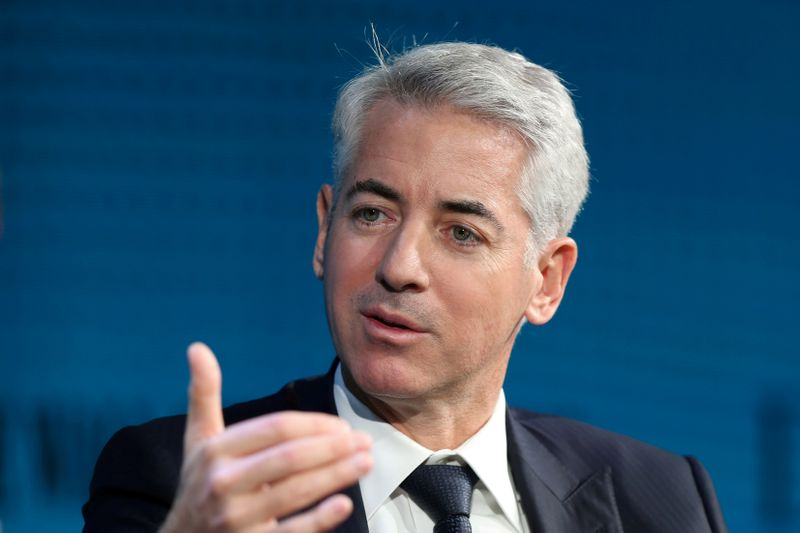 FILE PHOTO: Hedge fund veteran Ackman speaks at the WSJ Digital Conference in California in 2017