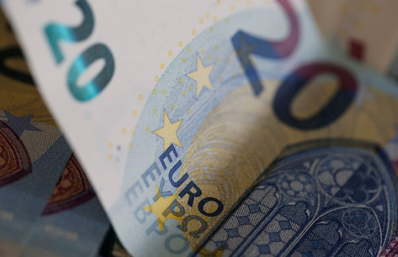 FILE PHOTO: Euro banknotes are seen in a picture illustration