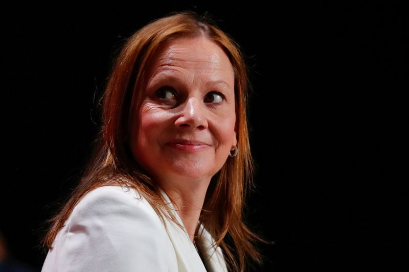 FILE PHOTO: Mary Barra , chairwoman and CEO of General Motors Company.