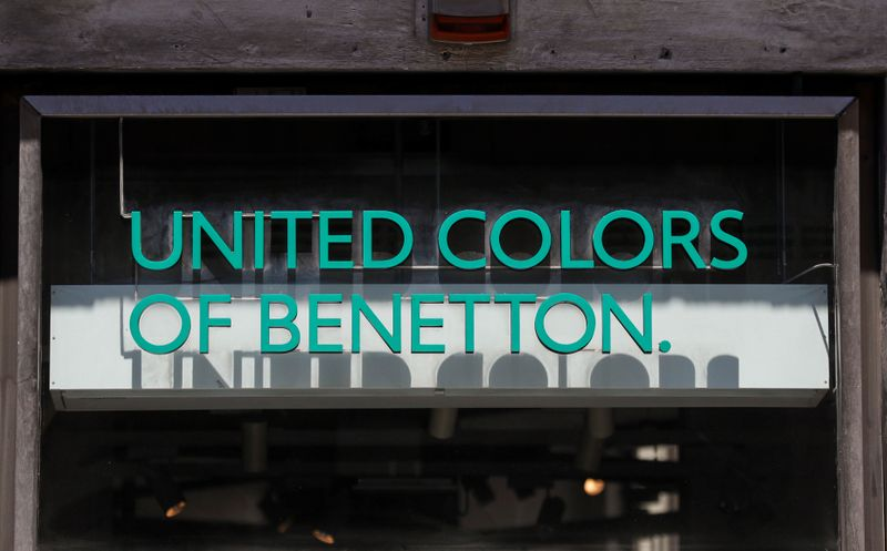 A logo of United Colors of Benetton is seen in front of a store in Rome