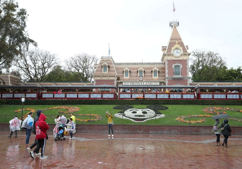 FILE PHOTO: A general view of the entrance of Disneyland theme park in Anaheim
