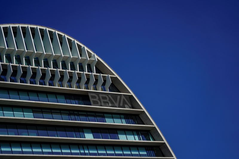 FILE PHOTO: A view of Spanish bank BBVA's headquarters in Madrid