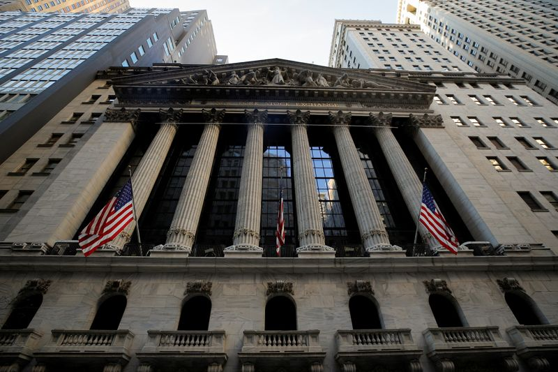 FILE PHOTO: The front facade of the NYSE is ssen in New York