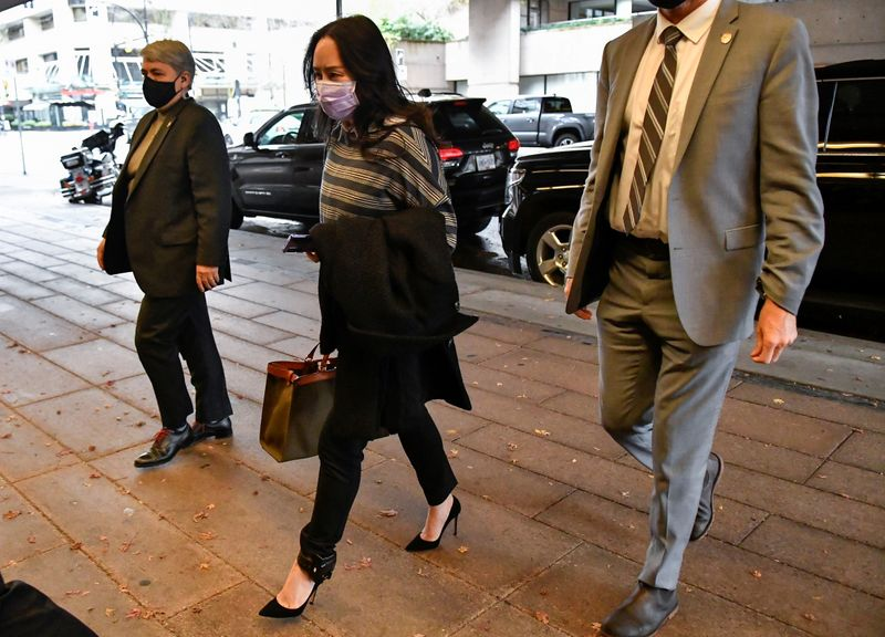 FILE PHOTO: Huawei Technologies Chief Financial Officer Meng Wanzhou arrives at court in Vancouver
