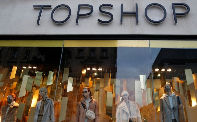 FILE PHOTO:  Manequins are seen in the window of a Topshop store in Liverpool, Britain