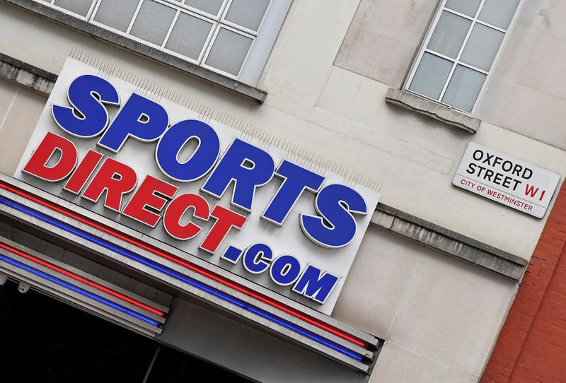 Branch of Sports Direct seen in Oxford Street, London